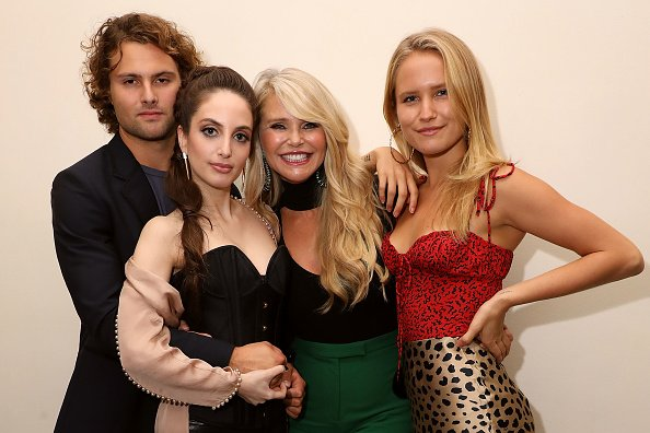 Christie Brinkley and her children, Jack, Alexa, and Sailor at Cafe Carlyle on September 25, 2018 in New York City. | Photo: Getty Images