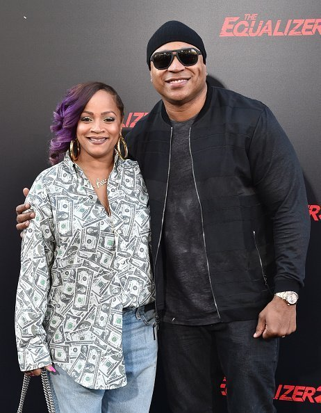 """LL Cool J and wife Simone Smith attend the premiere of Columbia Picture's """"The Equalizer 2"""" on July 17, 2018 