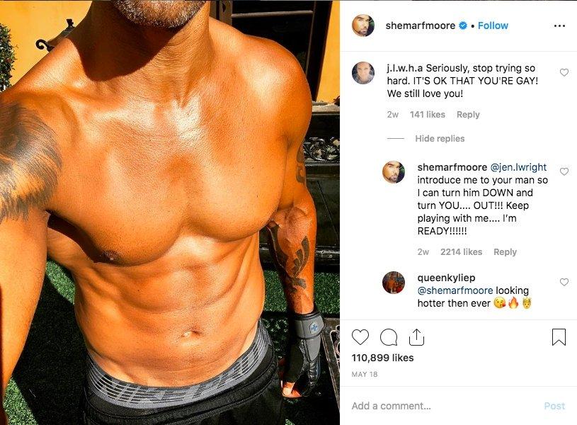 Shemar Moores Post auf Instagram und angehangene Kommentare der Fans, 18. Mai 2019 | Quelle: Instagram / @shemarfmoore