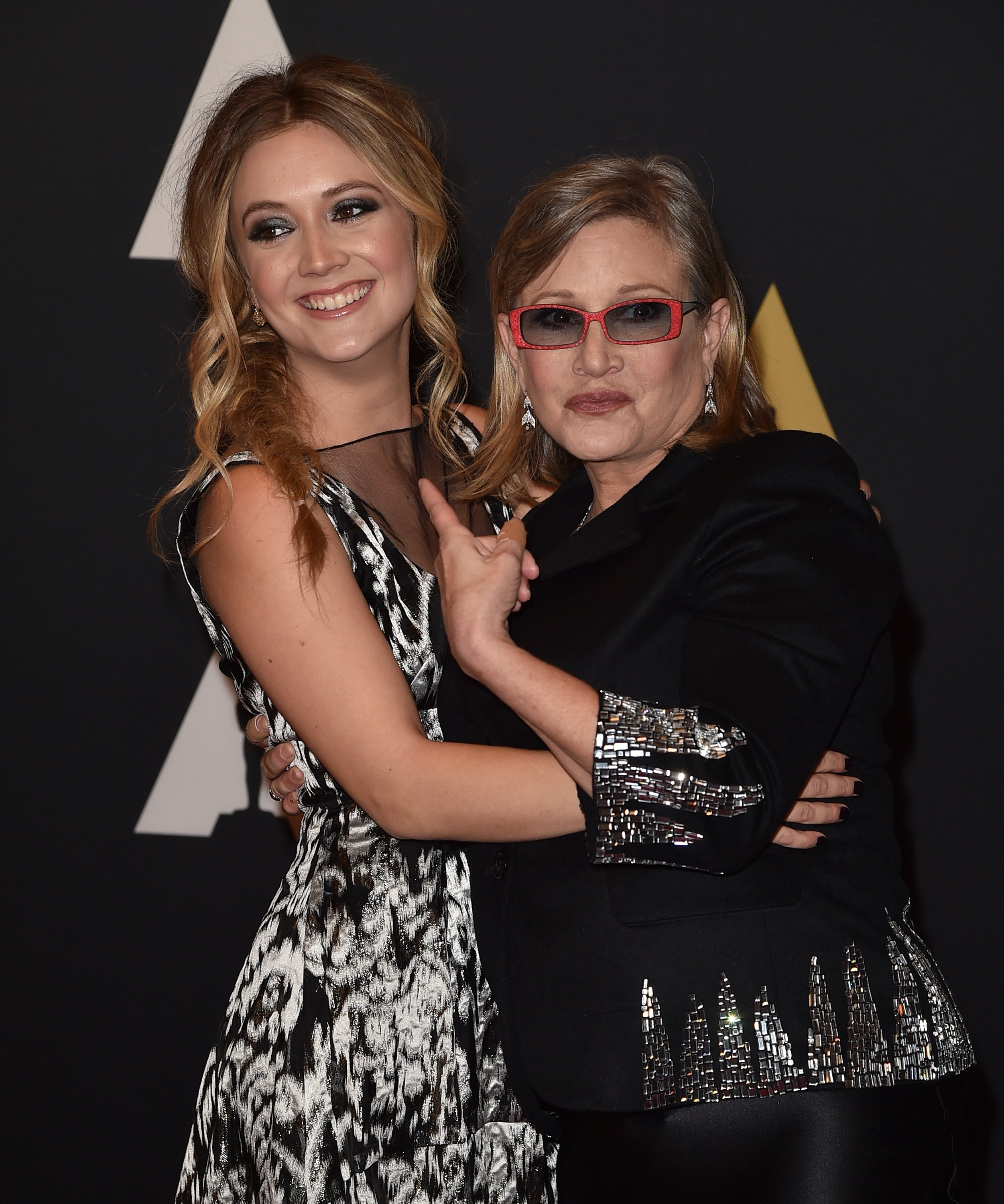 Carrie Fisher and Billie Catherine Lourd attend the Academy of Motion Picture Arts and Sciences' 7th annual Governors Awards at The Ray Dolby Ballroom at Hollywood & Highland Center on November 14, 2015 in Hollywood, California | Photo: Getty Images
