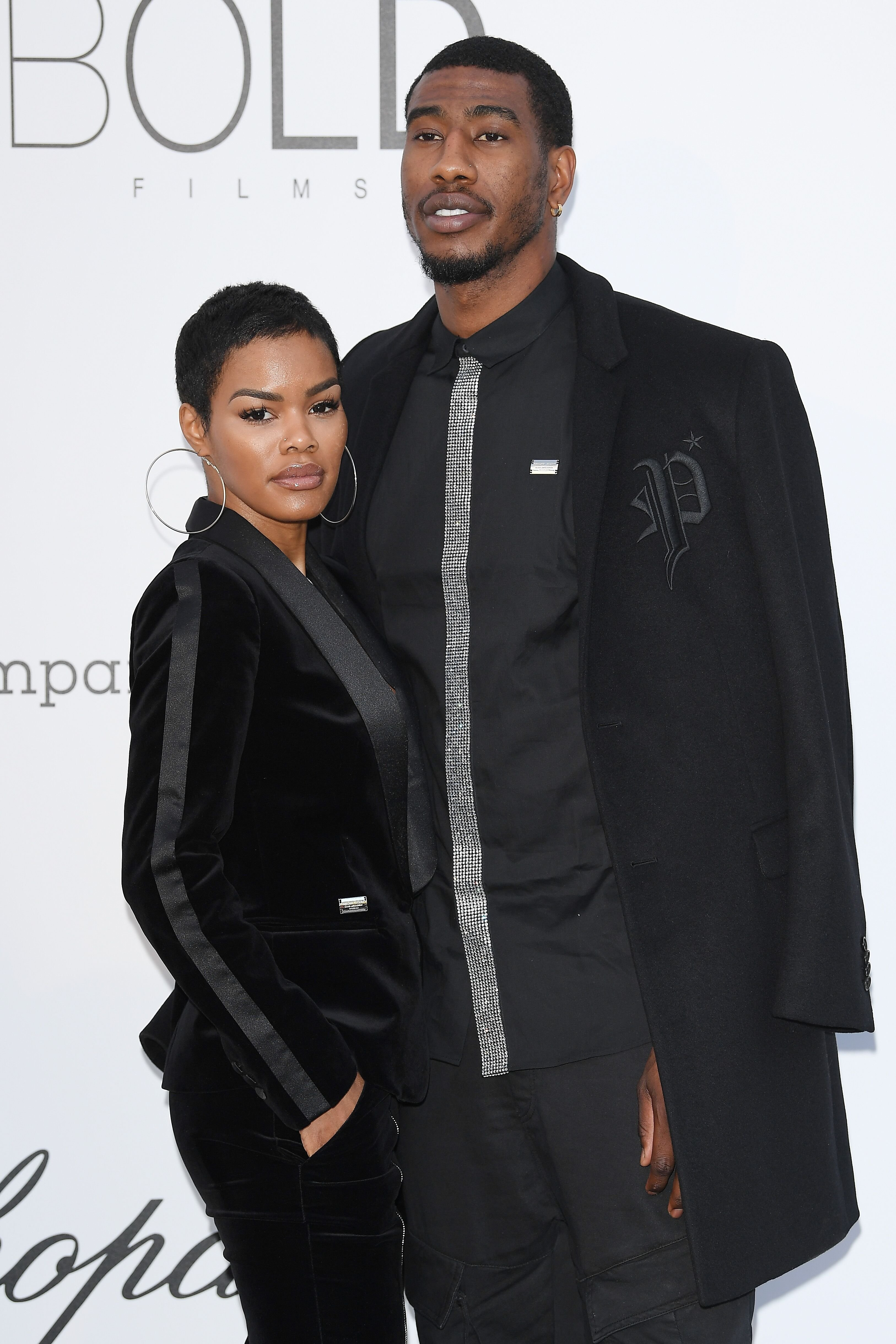 Teyana Taylor and Iman Shumpert arrive at the amfAR Gala Cannes 2018 at Hotel du Cap-Eden-Roc on May 17, 2018 | Photo: Getty Images