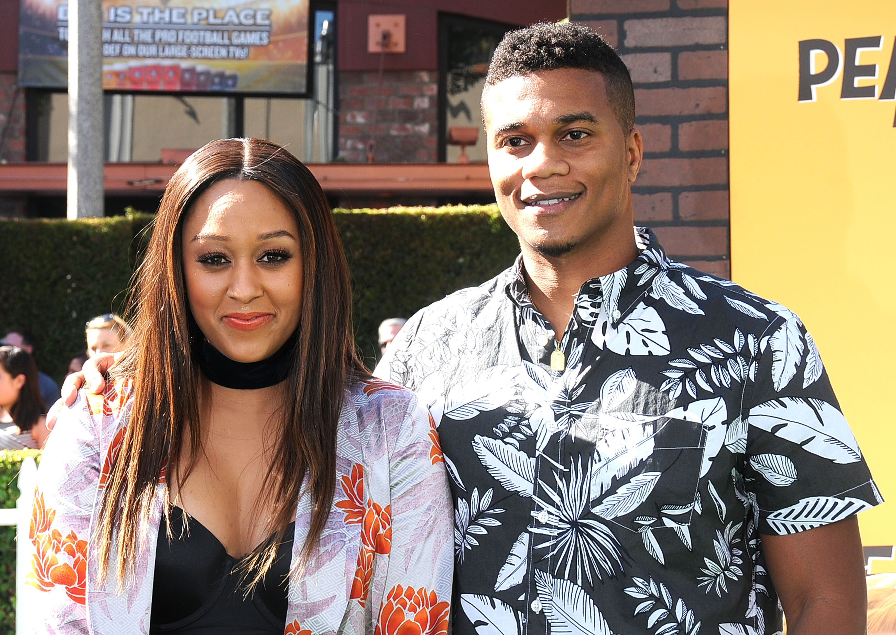 Tia Mowry and Cory Hardrict at the Regency Village Theatre on November 1, 2015 in Westwood, California. | Source: Getty Images