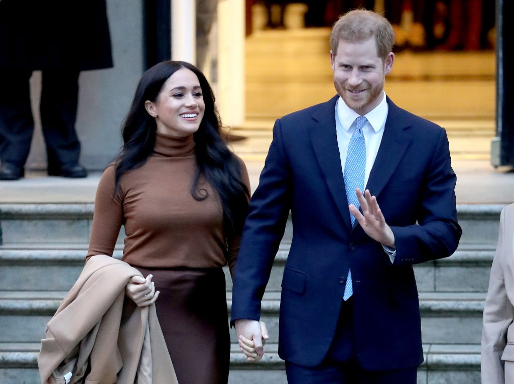Meghan Markle and Prince Harry pictured departing Canada House in London, England, 2020.   Photo: Getty Images