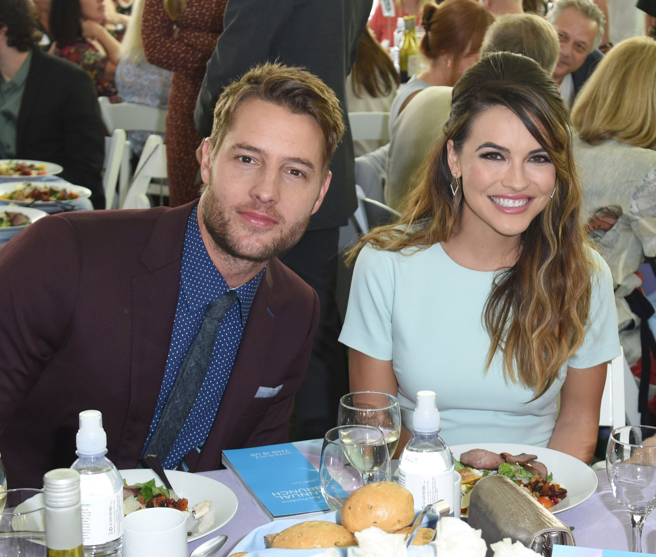Justin Hartley and Chrishell Stause at The Rape Foundation's Annual Brunch on October 8, 2017 in Beverly Hills, California | Photo: Getty Images