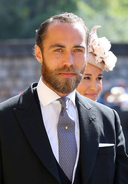 James Middleton à la chapelle St George au château de Windsor le 19 mai 2018 |Photo: Getty Images