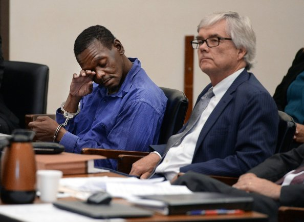 Henry McCollum at the Robeson County Courthouse in Lumberton, N.C. on September 2, 2014. | Photo: Getty Images