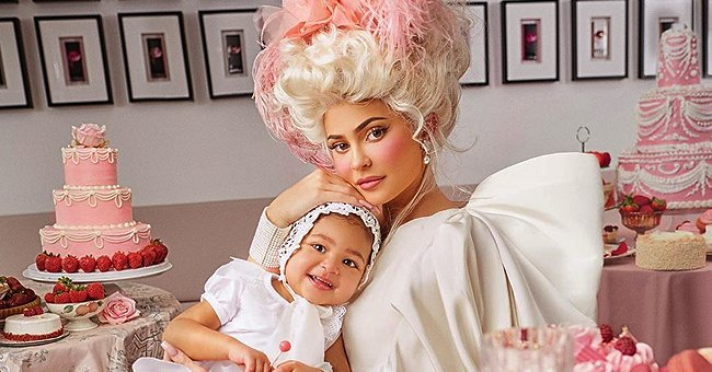 Kylie Jenner of KUWTK Fame Takes Part in Photo Shoot for Harper's Bazaar along with Her Daughter Stormi