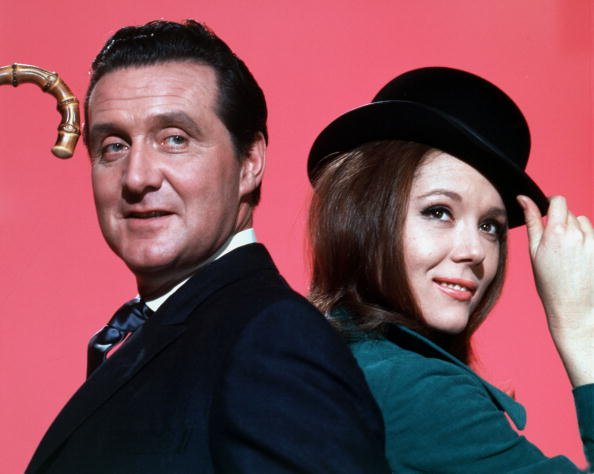 "Portraits of Patrick McNee and Diana Rigg in the television series ""The Avengers,"" circa 1968.