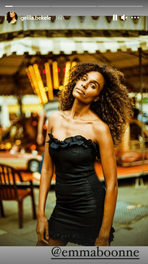 A picture of popular model Gelila Bekele in a sexy strapless gown | Photo: Instagram/gelila.bekele