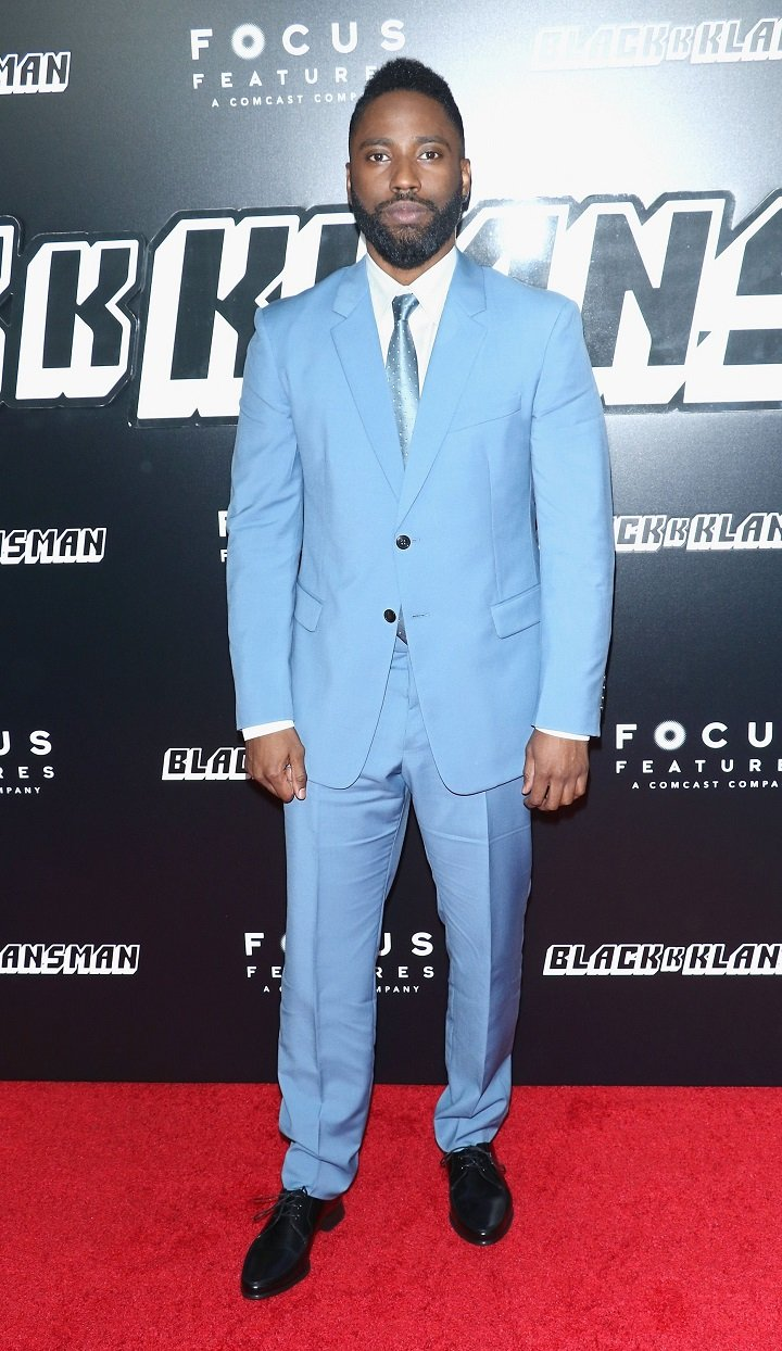 "John David Washington attending the ""BlacKkKlansman"" New York premiere in July 2018 