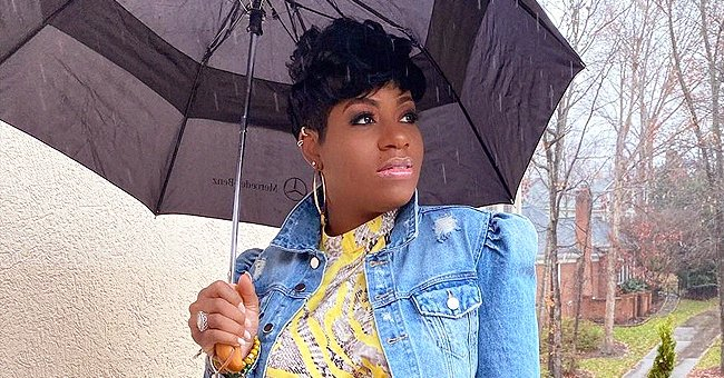 Fantasia Allegedly Reveals Her Baby's Name While Showing off Her Bump in a Pink Checkered Dress