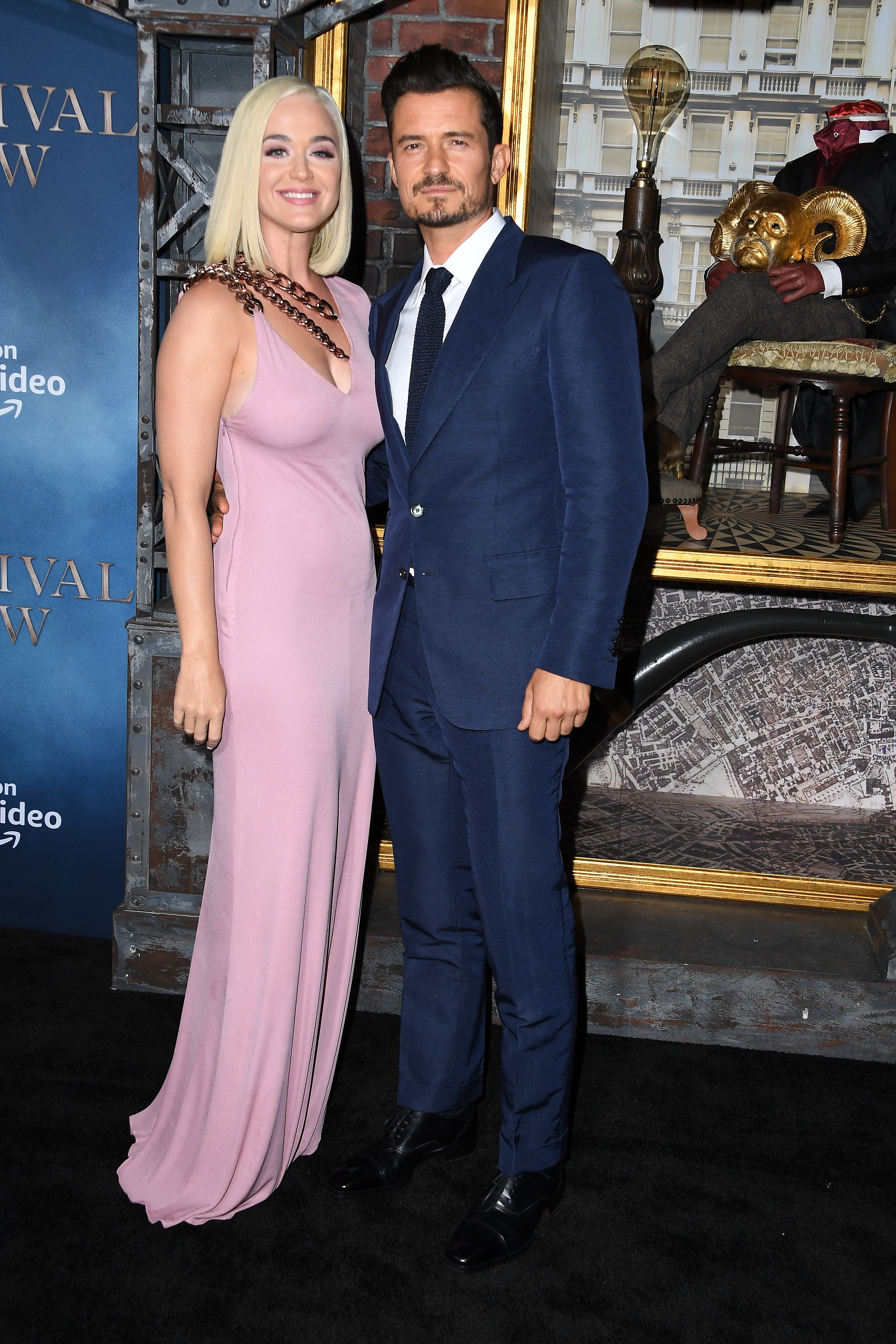 "Katy Perry and Orlando Bloom attend premiere of Amazon's ""Carnival Row"" on August 21, 2019, in Hollywood, California. 