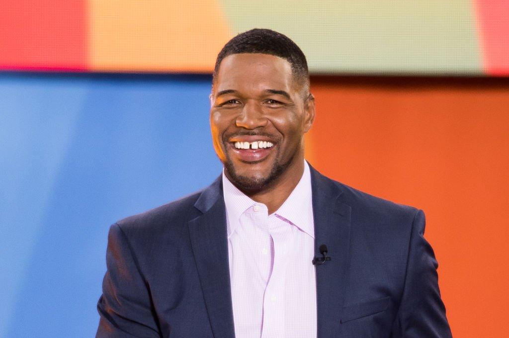 "Michael Strahan attends ABC's ""Good Morning America"" at Rumsey Playfield, Central Park 