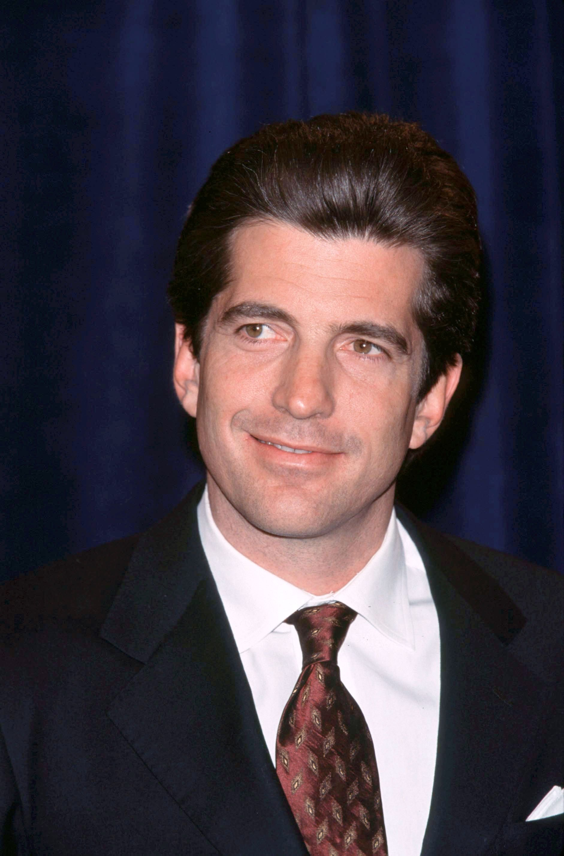 John Kennedy Jr. announces endowed Jackie Robinson scholarship, at the Jackie Robinson foundation dinner on October 05, 1998 Photo: Getty Images