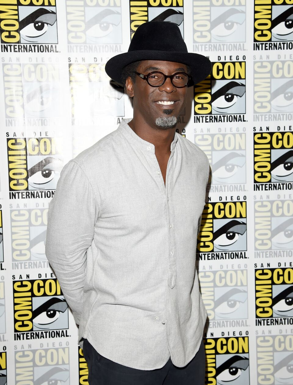 "Isaiah Washington attends the ""The 100"" press room during Comic-Con International. 