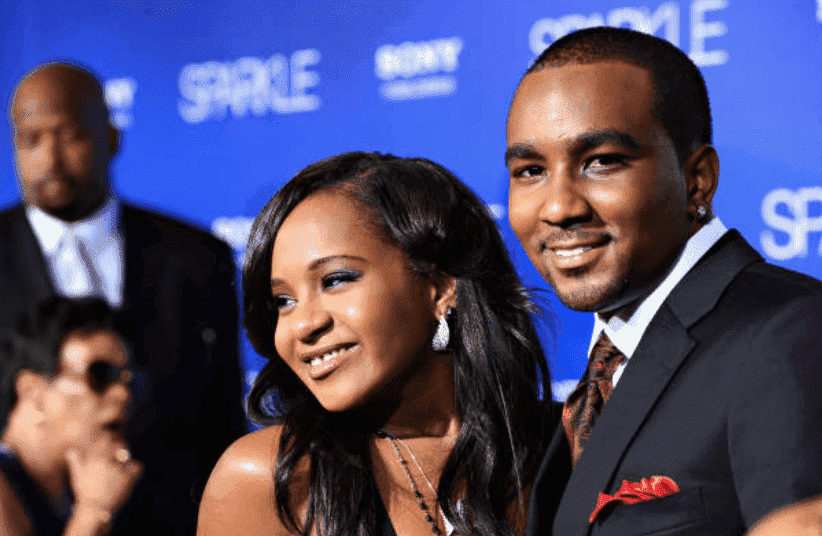 "Bobbi Kristina Brown and Nick Gordon on the red carpet at the Hollywood premiere of ""Sparkle"" in August 2012. 