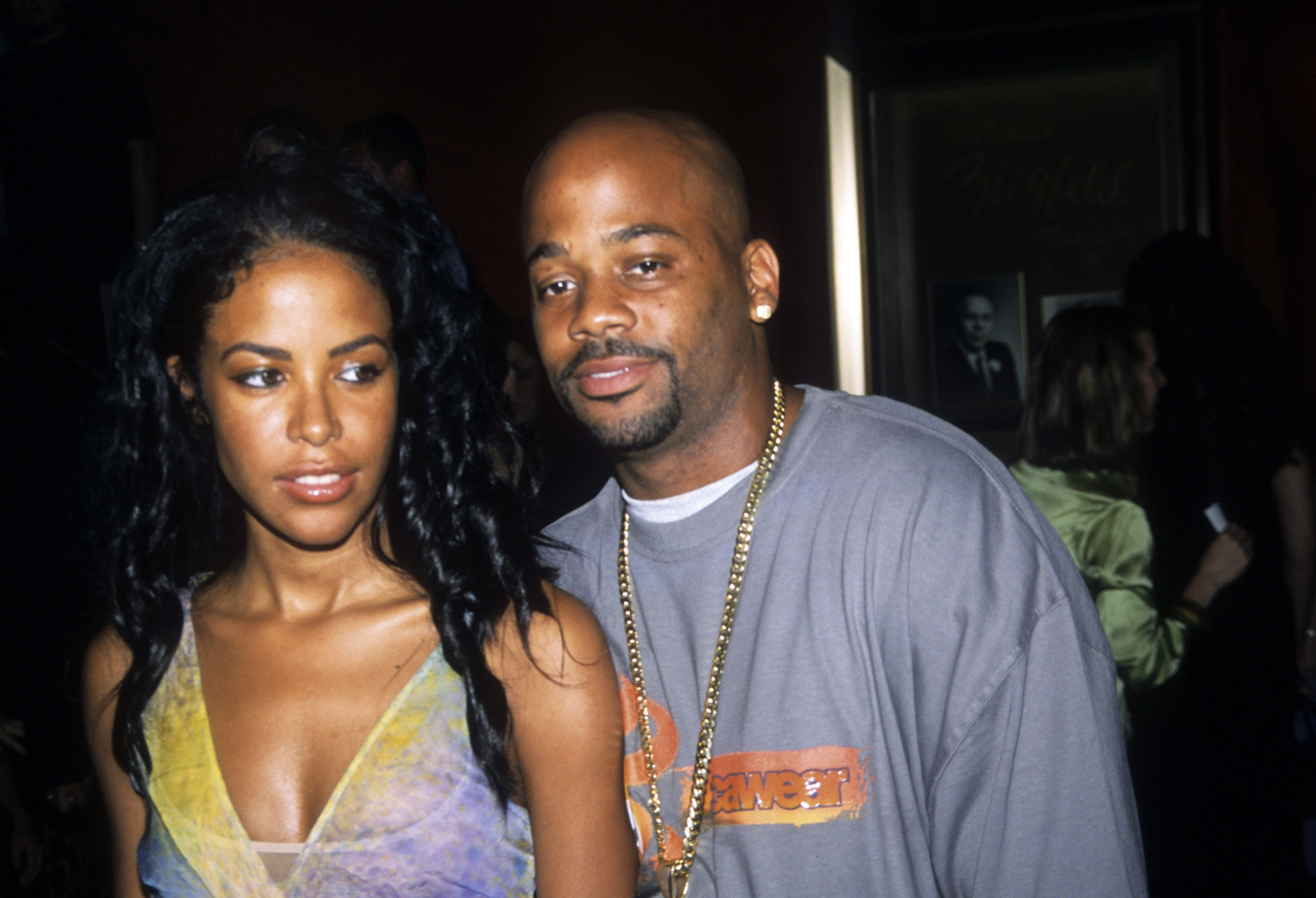 Aaliyah and Damon dash at the premiere of 'Planet of the Apes,' New York, July 23, 2001| Photo: Getty Images