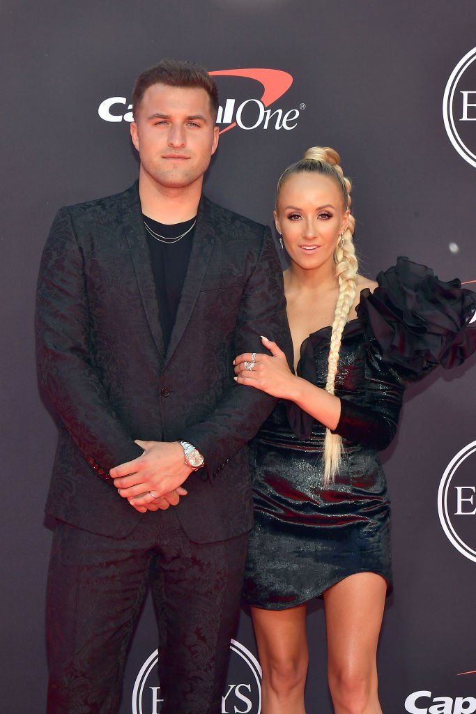 Sam Martin and Nastia Liukin attend The 2019 ESPYs at Microsoft Theater on July 10, 2019 | Photo: Getty Images