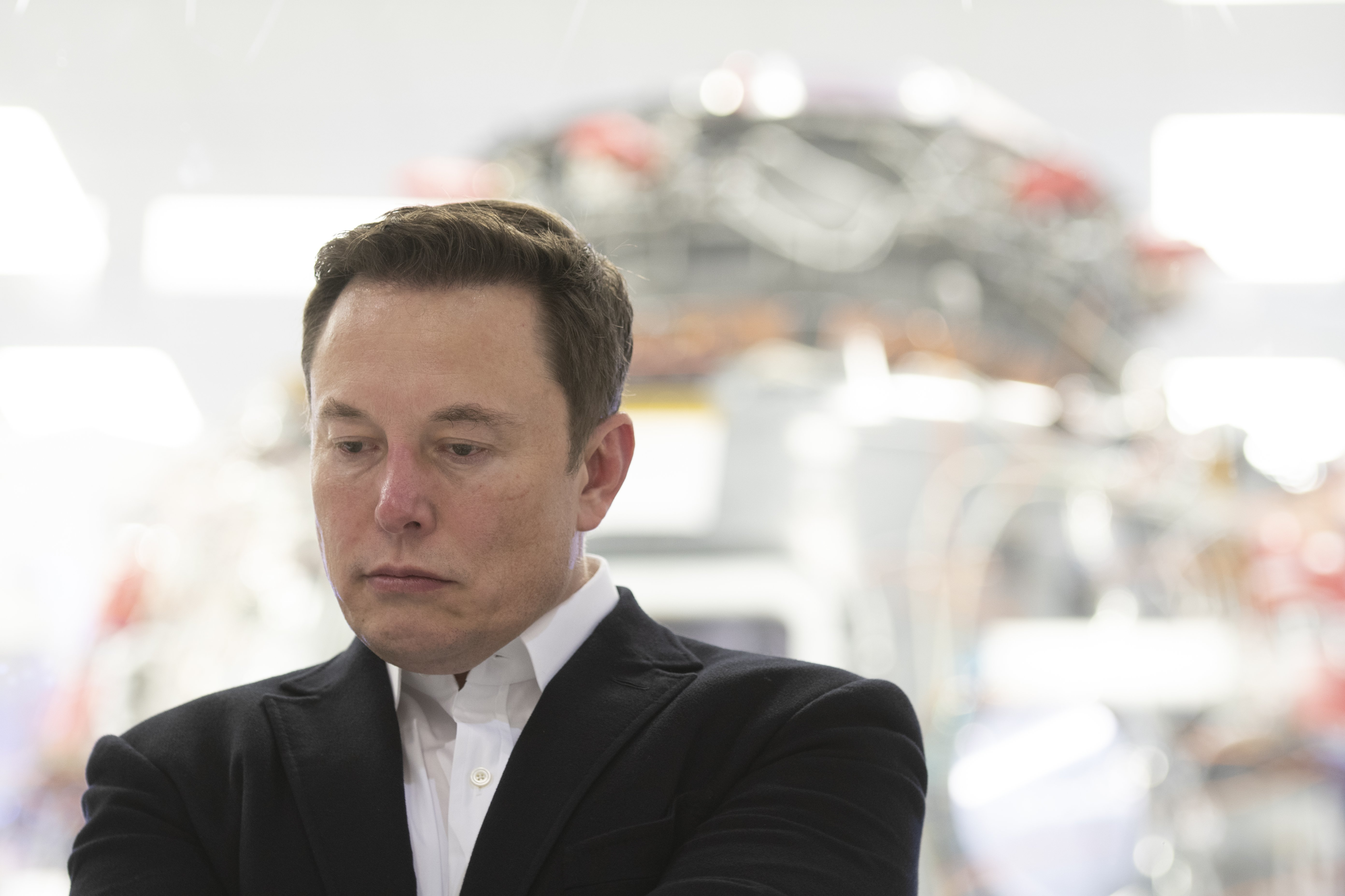 Elon Musk pictured at SpaceX Headquarters, 2019, Hawthorne, California.   Photo: Getty Images