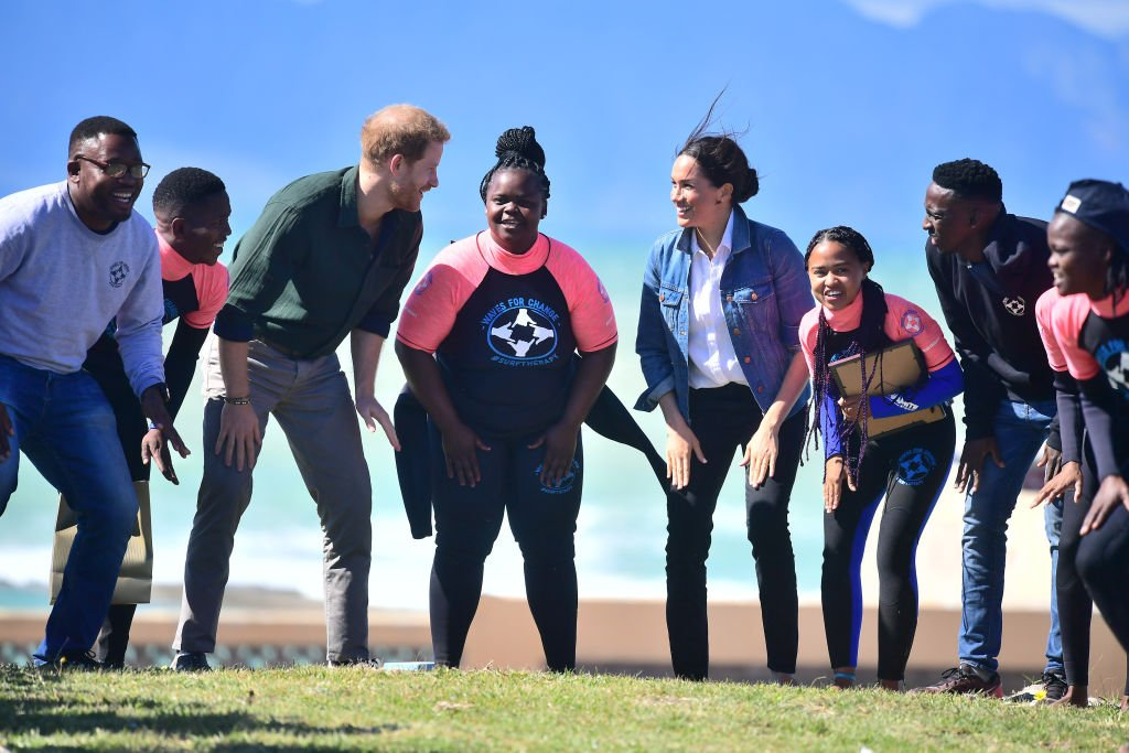 Meghan, Duchess of Sussex and Prince Harry, Duke of Sussex visit Waves for Change, an NGO, at Monwabisi Beach during their royal tour of South Africa on September 24, 2019 in Cape Town, South Africa. | Source: Getty Images