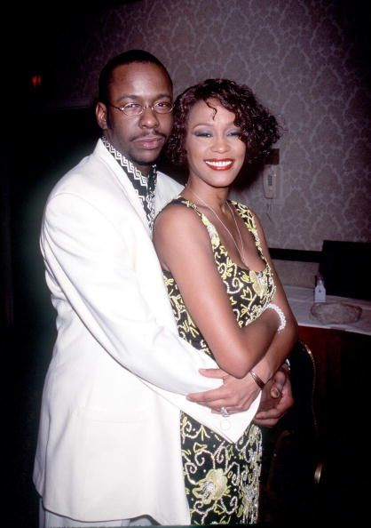 """The late Whitney Houston and Bobby Brown at """"Whitney Houston''s All-Star Holiday Gala"""" in New York, NY, December 4, 1999 