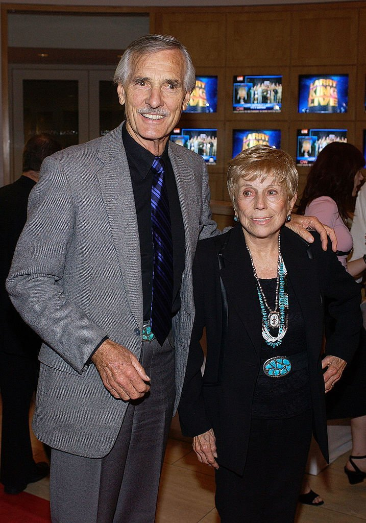 Dennis Weaver and wife Gerry attend a surprise 70th birthday party for television talk show host Larry King  | Getty Images / Global Images Ukraine