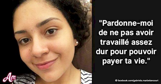 Une mère au cœur brisé écrit une lettre à sa fille morte après qu'elle ait été tuée par ses ravisseurs