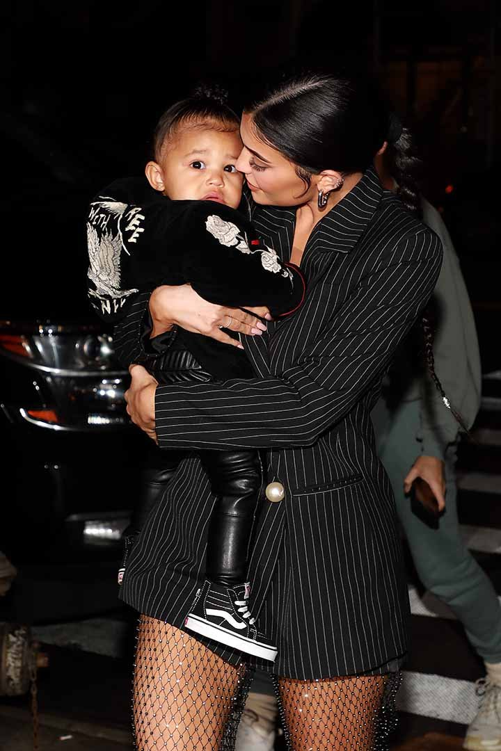Kylie Jenner and daughter Stormi Webster arrive at Nobu restaurant on May 03, 2019 in New York City. I Image: Getty Images.