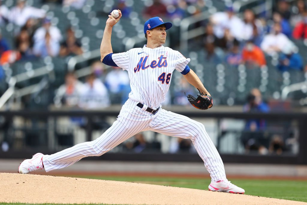 Jacob deGrom on May 09, 2021 in New York City   Photo: Getty Images