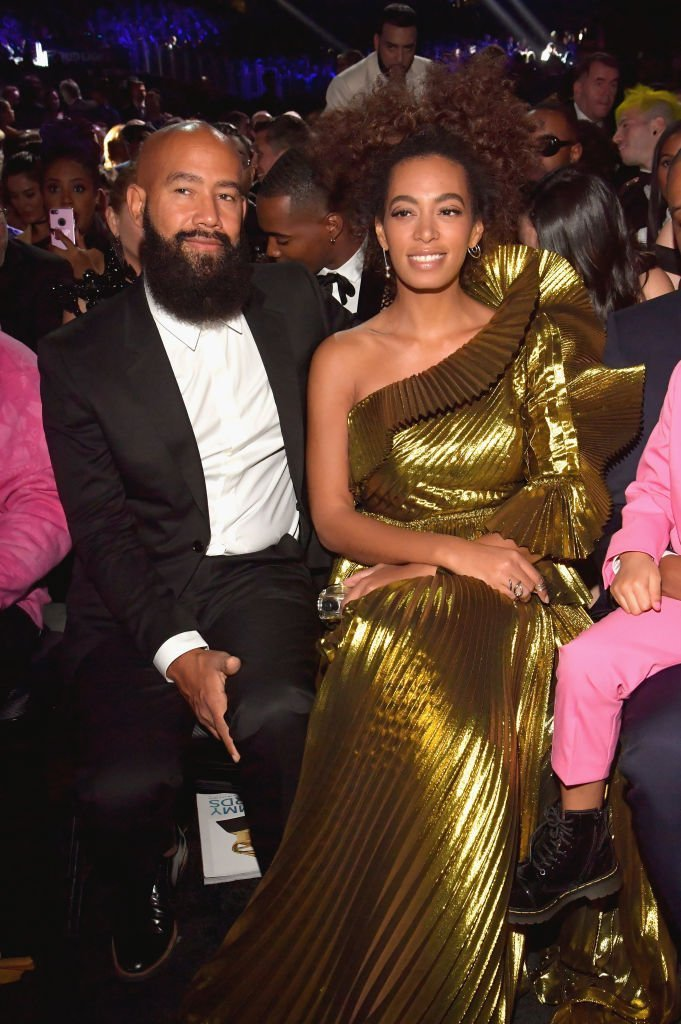 Solange Knowles & Alan Ferguson at the 59th GRAMMY Awards on Feb. 12, 2017 in Los Angeles, California | Photo: Getty Images