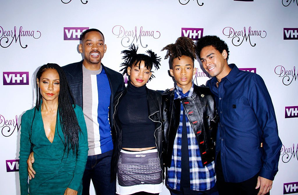 "Jada Pinkett Smith, Will Smith, Willow Smith, Jaden Smith and Trey Smith attend the VH1 ""Dear Mama"" taping at St. Bartholomew's Church 