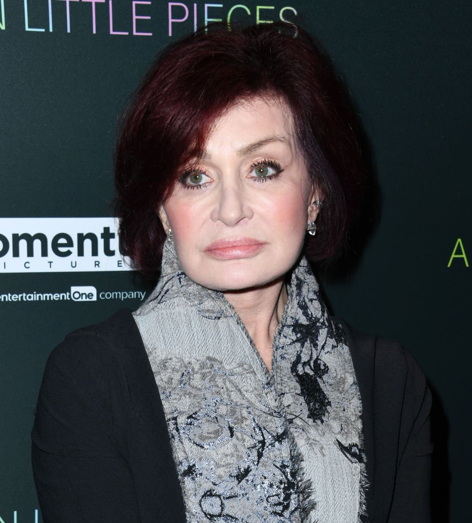 "Sharon Osbourne poses for cameras as she arrived at the Special Screening Of Momentum Pictures' ""A Million Little Pieces,"" on December 04, 2019 in West Hollywood, California 
