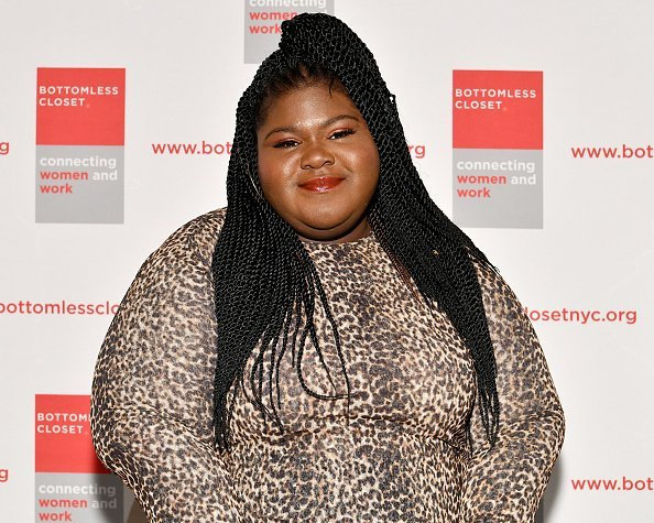 Gabourey Sidibe attends the 20th Anniversary Bottomless Closet Luncheon in New York City