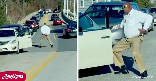 Commuter starts amazing dance to raise mood of frustrated drivers in Baltimore traffic