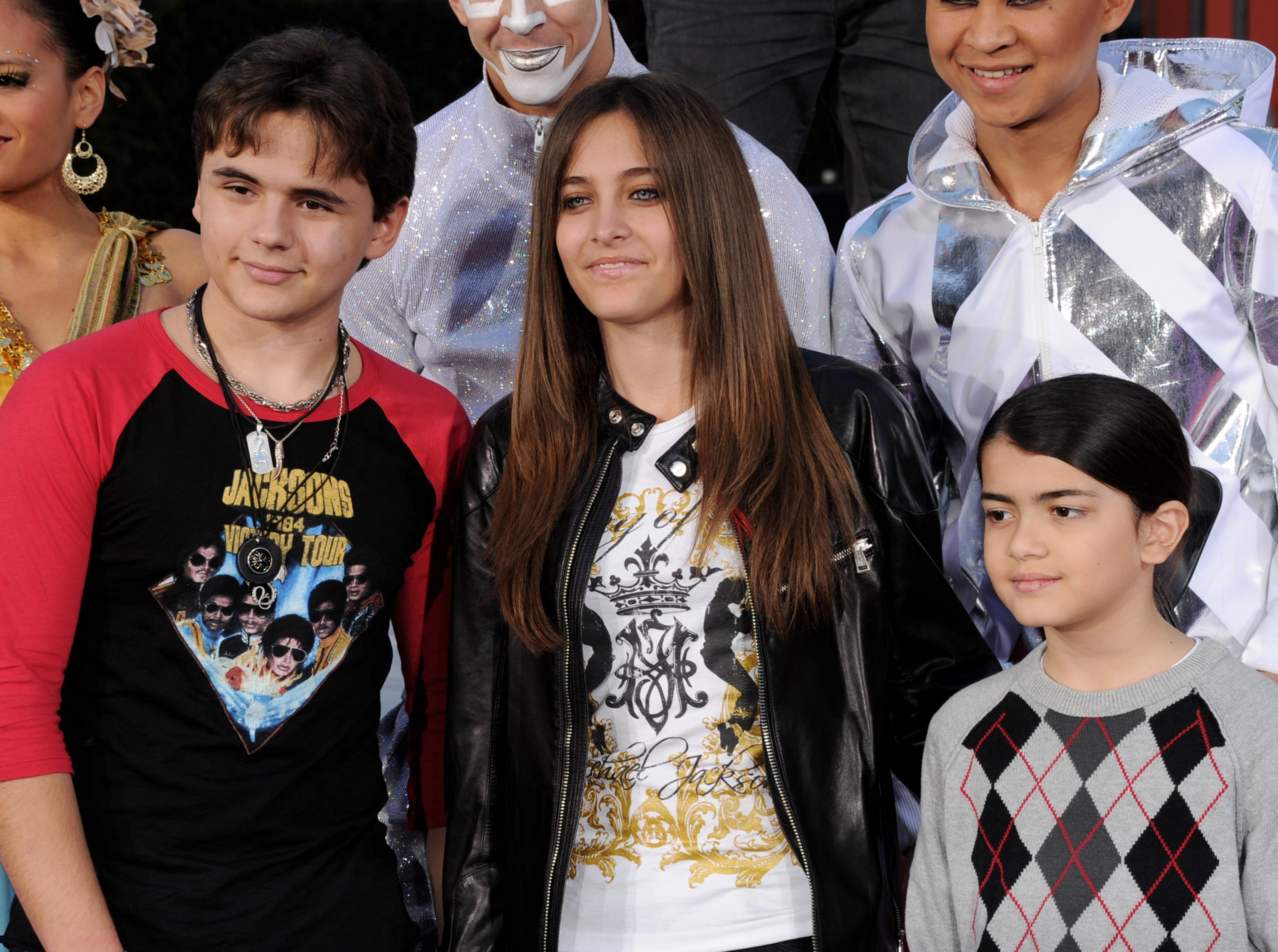 Prince Jackson, Paris Jackson and Blanket Jackson appear at the Michael Jackson Hand and Footprint ceremony at Grauman's Chinese Theatre. | Photo: GettyImages