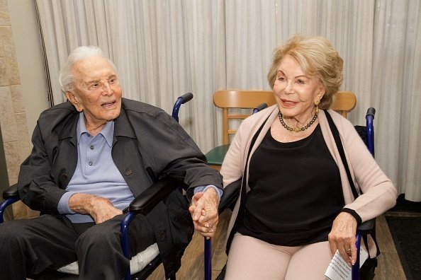 Actor Kirk Douglas and his wife Anne Douglas attend the 25th Anniversary Of The Anne Douglas Center at Los Angeles Mission on May 4, 2017 in Los Angeles, California | Photo: Getty Images