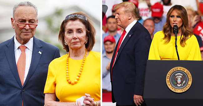 Nancy Pelosi's Bright Yellow Dress Brings to Mind Melania Trump's Similar Chic Outfit