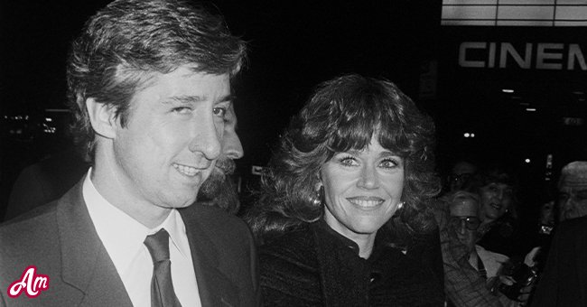Tom Hayden with Jane Fonda outside the theater showing On Golden Pond.; circa 1970; New York. | Source: Getty Images