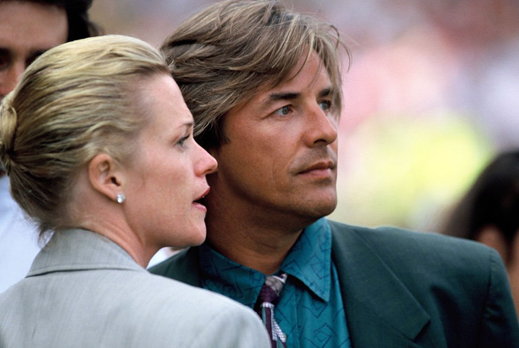 Don Johnson and Melanie Griffith at the opening ceremony of the European Summer Special Olympics on July 21, 1990   Photo: GettyImages