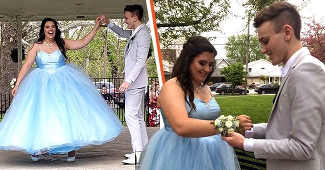 When a girl could not afford her dream prom dress, her date made her a gown fit for a princess| Photo: Twitter/AddiRust