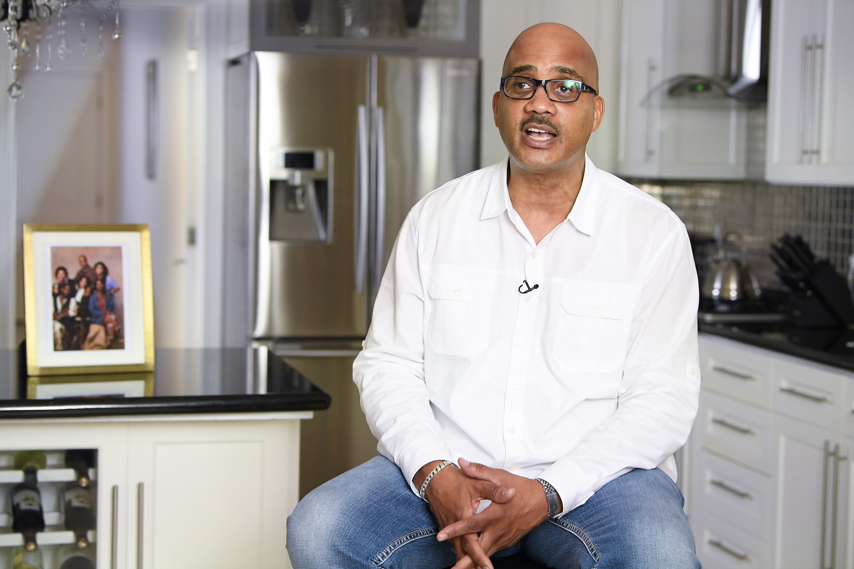 """John Henton in an interview in celebration of """"Living Single"""" 25th anniversary in 2018 in Los Angeles 