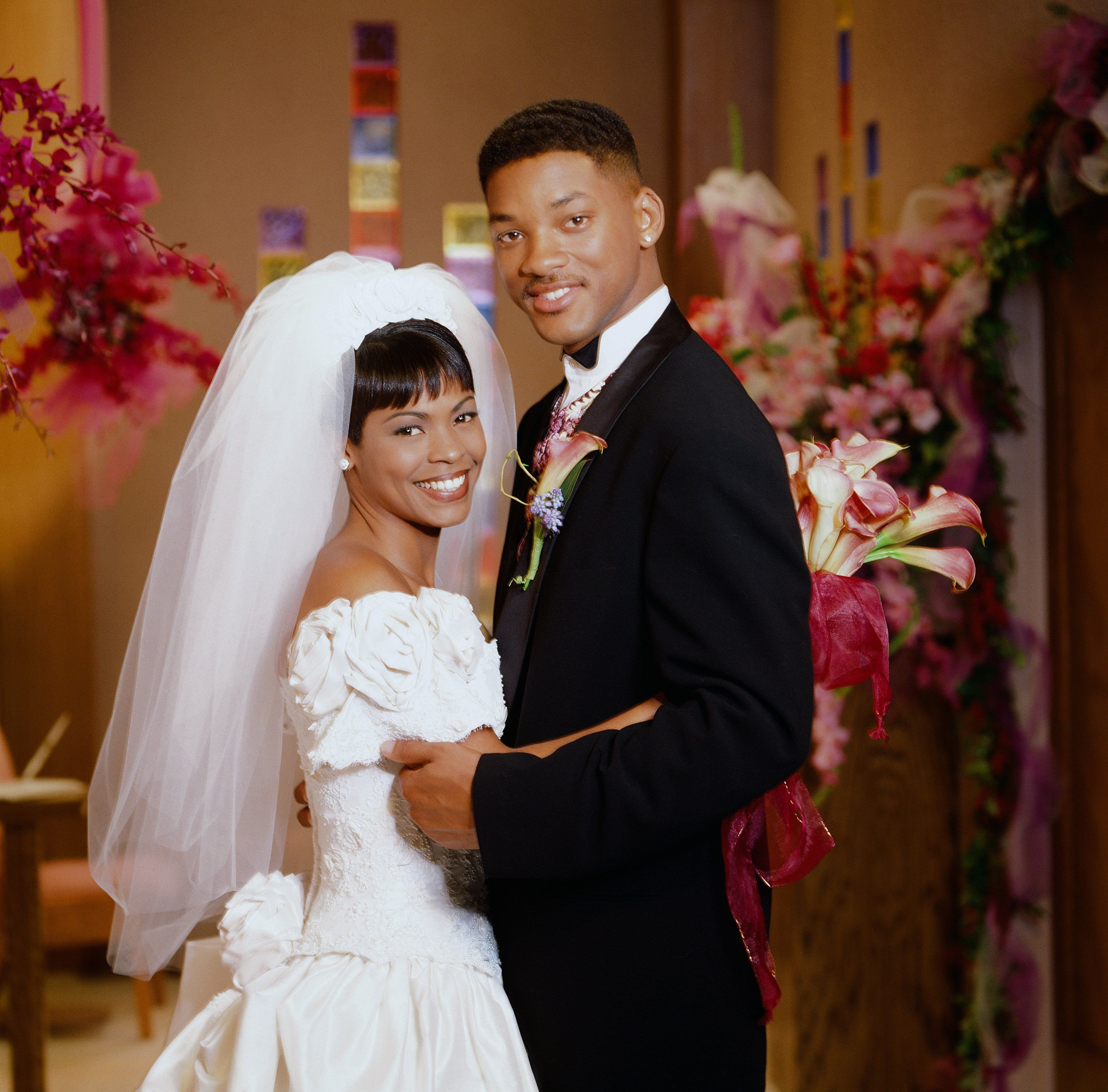 """Nia Long as Lisa Wilkes, Will Smith as William 'Will' Smith on the """"The Fresh Prince of Bel Air.""""   Source: Getty Images"""