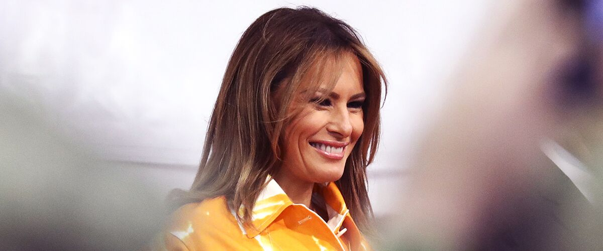 Melania Trump Delivers an Emotional Memorial Day Speech Aboard the USS Wasp in Japan