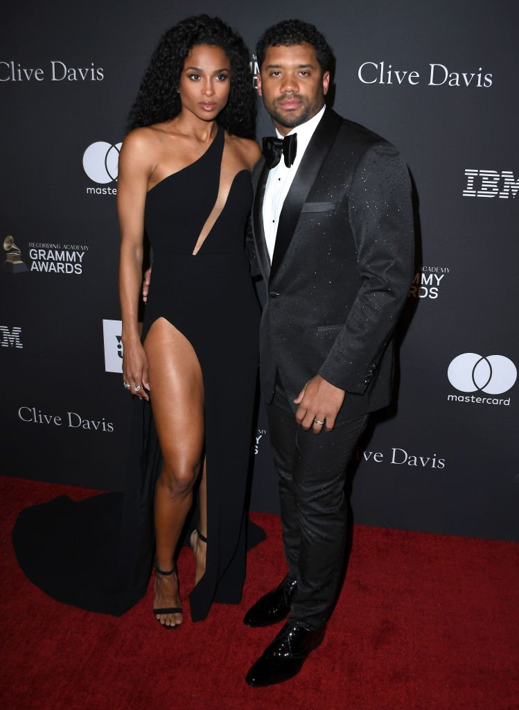 Ciara and Russell Wilson at the 2019 Pre-Grammy Gala at The Beverly Hilton Hotel on February 09, 2019 in Beverly Hills, California.| Source: Getty Images