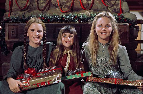 """Melissa Gilbert as Laura Ingalls, Sydney Greenbush as Carrie Ingalls, Melisssa Sue Anderson as Mary Ingalls on """"Little House on the Prairie""""  