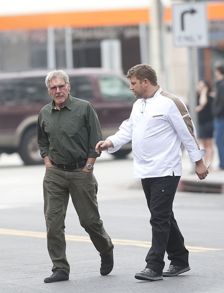 Harrison Ford and his son Benjamin Ford spotted walking on January 24, 2014 in Los Angeles, California   Photo: Getty Images