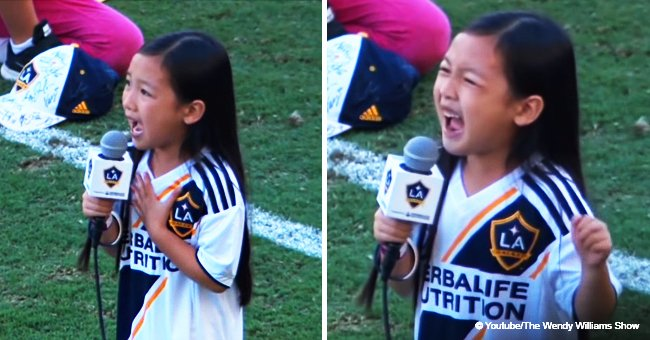 7-year-old girl blows everyone away with her performance of the national anthem at MLS