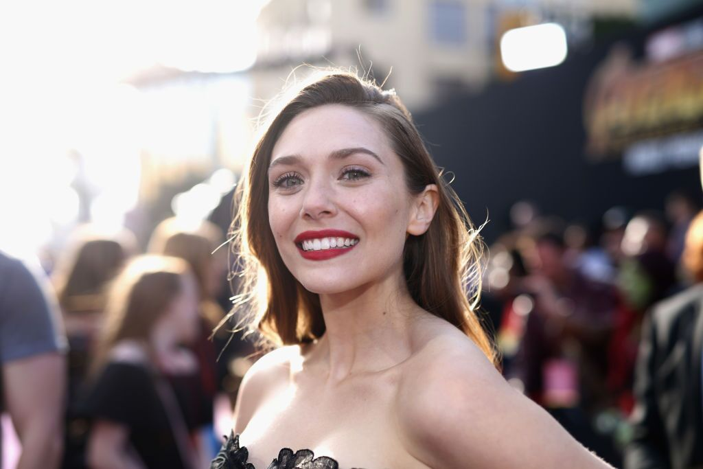 """Elizabeth Olsen at the Los Angeles Global Premiere for """"Avengers: Infinity War"""" in 2018 