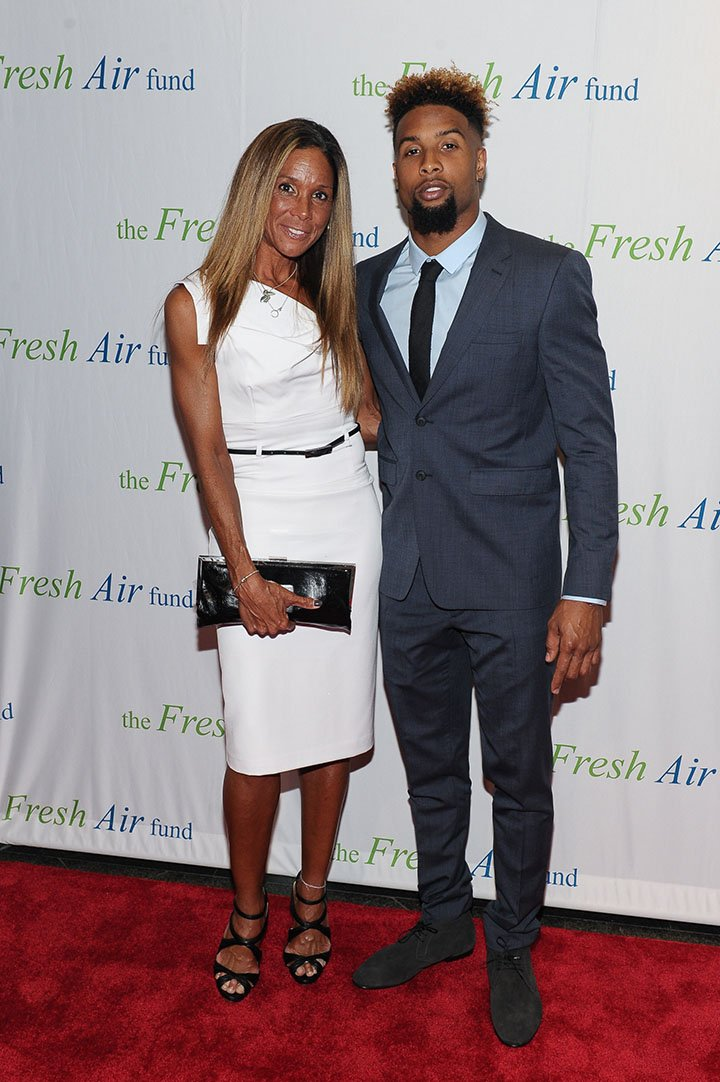 Heather Van Norman and son Odell Beckham, Jr. attend the 2015 Fresh Air Fund's Salute To American Heroes at Pier Sixty at Chelsea Piers on May 28, 2015 in New York City. I Image: Getty Images.