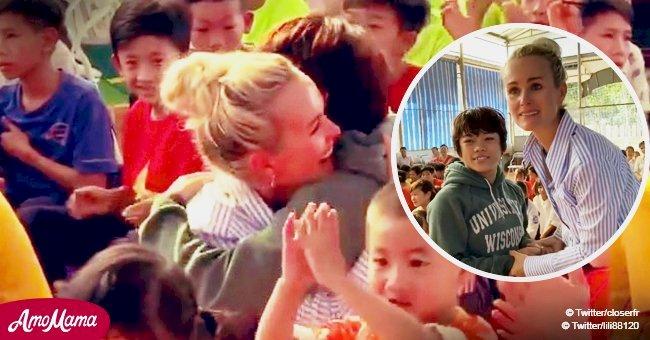 Laeticia Hallyday éclate en sanglots: elle rencontre sa petite filleule au Vietnam